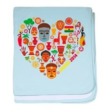 Ghana World Cup 2014 Heart baby blanket