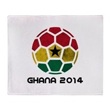 Ghana World Cup 2014 Throw Blanket