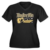Nashville Tennessee Women's Plus Size V-Neck Dark