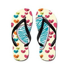 Lollipop Candy Monogram Hearts Flip Flops