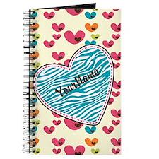 Lollipop Candy Monogram Hearts Journal