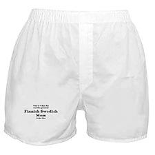 Finnish Swedish mom Boxer Shorts