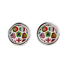 World Cup 2014 Round Cufflinks