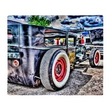 Rat rod Throw Blanket