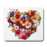 Heart Bouquet Mousepad