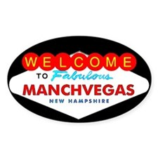 Manchvegas Shirts - T-Shirts Oval Decal