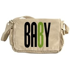 Twin Baby B Green Messenger Bag