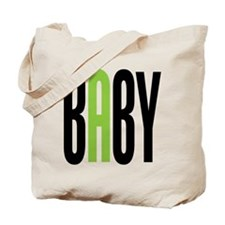 Twin Baby A Green Tote Bag