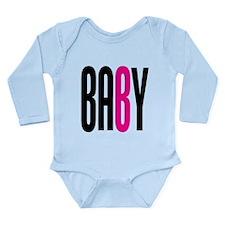 Twin Baby B Pink Long Sleeve Infant Bodysuit