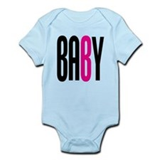 Twin Baby B Pink Infant Bodysuit