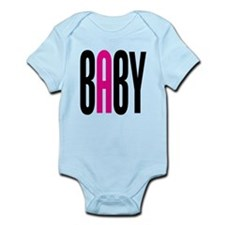 Twin Baby A Pink Infant Bodysuit