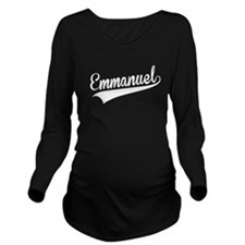 Emmanuel, Retro, Long Sleeve Maternity T-Shirt
