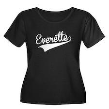Everette, Retro, Plus Size T-Shirt