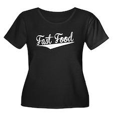 Fast Food, Retro, Plus Size T-Shirt