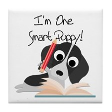One Smart Puppy Tile Coaster