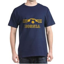 Bosnia Soccer Dark Blue T-Shirt