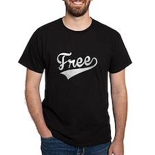 Free, Retro, T-Shirt