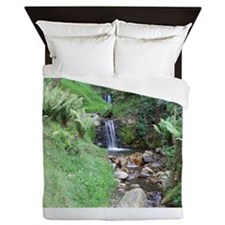 Small Waterfall Queen Duvet