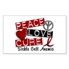 Sickle Cell Anemia PeaceLoveCu Decal