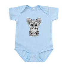 Cute Baby Snow Leopard Cub Body Suit