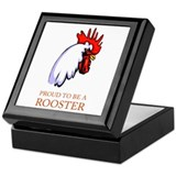 Proud To Be A Rooster Keepsake Box