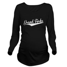 Grand Forks, Retro, Long Sleeve Maternity T-Shirt