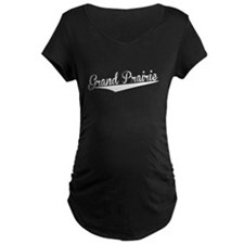 Grand Prairie, Retro, Maternity T-Shirt