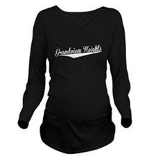 Grandview Heights, Retro, Long Sleeve Maternity T-