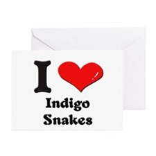 I love indigo snakes  Greeting Cards (Pk of 10