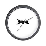 Cute Brown and blue Wall Clock