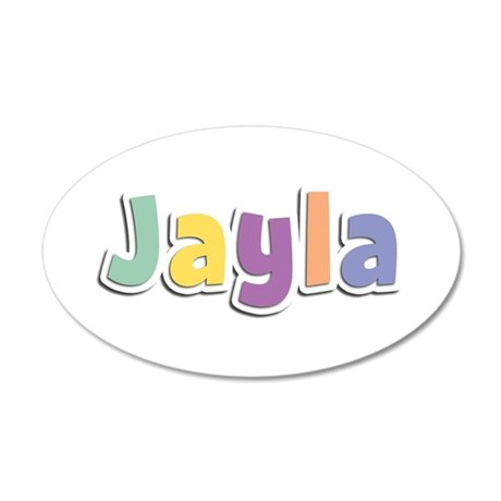 Jayla Spring14 35x21 Oval Wall Decal