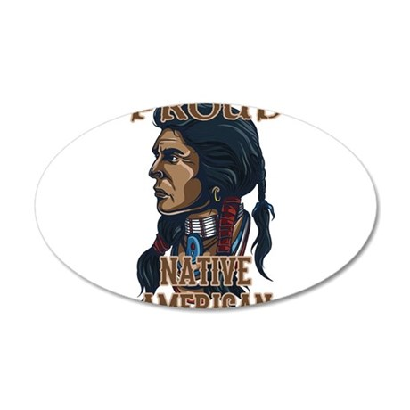 proud native american 3 Wall Decal