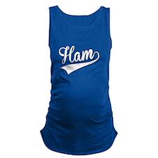 Ham, Retro, Maternity Tank Top