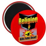 Religion: Kills Folks Dead! Magnet (10 pack)
