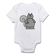 Chubby Funny Gray Squirrel Infant Bodysuit