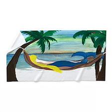 Lazy Mermaid Beach Towel