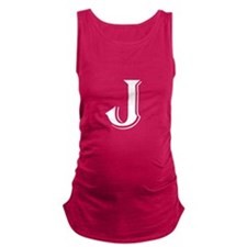 Fancy Letter J Maternity Tank Top