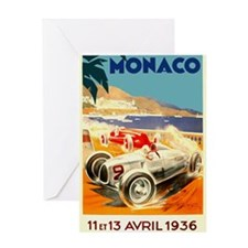 Antique 1936 Monaco Grand Prix Auto Race Poster Gr