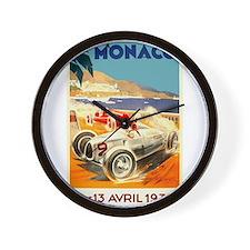 Antique 1936 Monaco Grand Prix Auto Race Poster Wa