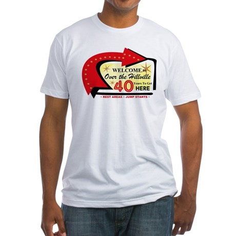 Over the Hillville 40 Fitted T-Shirt