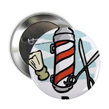 "Cute Barber 2.25"" Button (10 pack)"