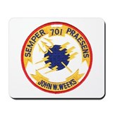 USS JOHN W. WEEKS Mousepad