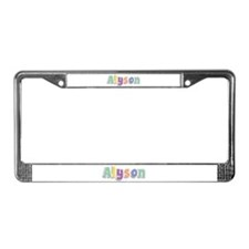 Alyson Spring14 License Plate Frame