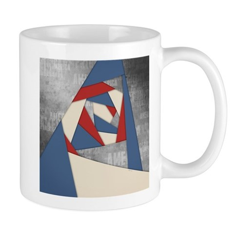 Abstract America Collage Mugs