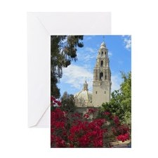 San Diego Balboa Park Tower Greeting Cards