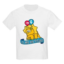 4th Birthday Dinosaur T-Shirt
