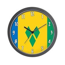 Saint Vincent Grenadines Flag Wall Clock