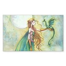 Discipline Fairy and Dragon Fantasy Art Decal