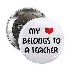 Heart Belongs to a Teacher Button