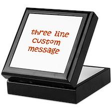 Three Line Custom Design Keepsake Box